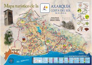 Plano turístico de La Axarquía