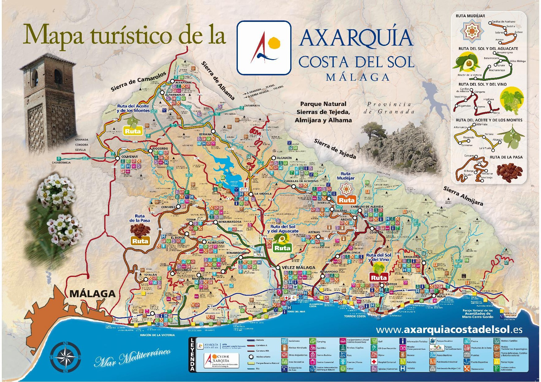 Axarquía Tourist Map (outside)