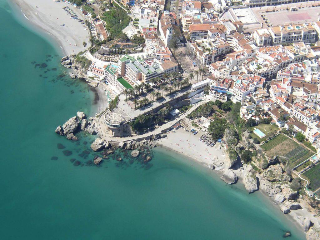Vista aérea Balcón de Europa